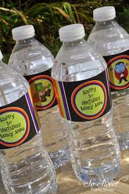 Decorate Water Bottle Halloween Water Bottle Labels Halloween Or Birthday Party