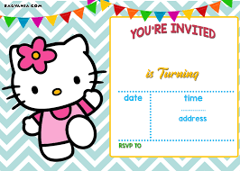 template undangan online free personalized hello kitty birthday invitations drevio