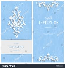 vector blue 3d floral vertical cards stock vector 277013093