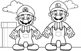 100 paper mario coloring mario brothers printable