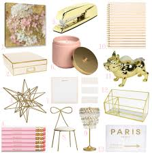blush and gold office accessories lil bits of chic by paulina mo