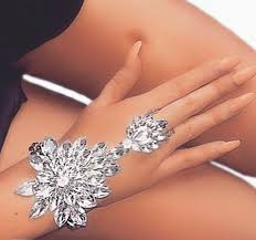 crystal chain rings images Aglaia crystal hand chain indian bollywood hand jewelry hand chain jpg