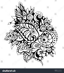 coloring page autumn pattern abstract graphic stock vector