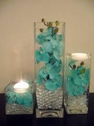 teal flowers silk flowers in vase foter