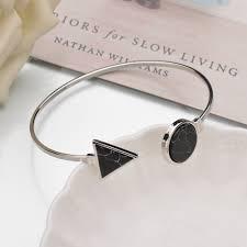 best black friday jwellery deals fine mestilo new punk white black round triangle faux marble stone