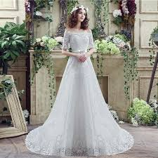 lace wedding dress with belt princess a line the shoulder lace sleeve corset wedding