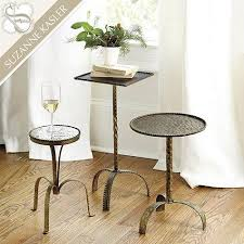 Antique Accent Table Gold Suzanne Kasler Metal Accent Tables