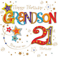 design animated birthday card for grandson plus 21st birthday