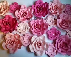 Flower Wall Decor Paper Flower Wall Etsy
