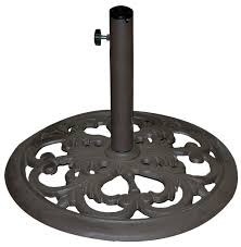Umbrella Stand Patio Tropishade 30 Pound Bronze Powder Coated Cast Iron