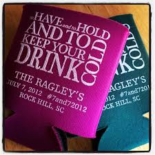 personalized wedding koozies kustom koozies favors gifts raleigh nc weddingwire