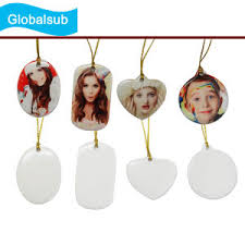 china sublimation ceramic ornament with tree pendent
