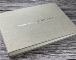 personalized photo album cover personalised ivory linen photo album 5 sizes available