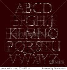 modern roman classic alphabet with a method of geometrical