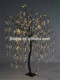 weeping willow tree real look trunk led indoor outdoor artificial