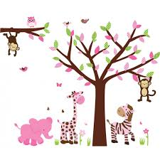 Wall Murals Wallpaper Kids Wall Murals Wall Murals For Pink Green Jungle Wall Murals With Tree Decals For Walls For Kids