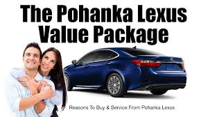 lexus service center arlington pohanka value package pohanka lexus