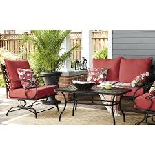 shop garden treasures yorkford 2 piece steel patio conversation