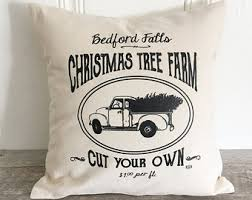 Decorative Pillows Christmas Tree Shop by Christmas Pillows Etsy