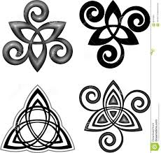 triquetra and triple spiral triskele tattoos pinterest