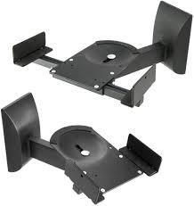 Speaker Wall Mounts Mount Sp201 Vivo Dual Pair Adjustable Wall Mounting Surround Sound