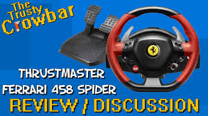thrustmaster 458 review thrustmaster 458 spider racing wheel review discussion
