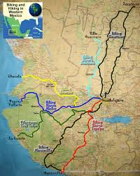 Jalisco Mexico Map Outdoor Adventure Travel Map Biking And Hiking In Western Mexico