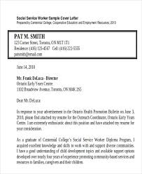 7 sample social worker cover letter free sample example