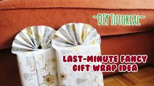 Ideas To Wrap A Gift - diy tutorial last minute fancy gift wrap idea youtube