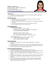 How To Create Resume For Job by Sample Of Resume For A Job Resume For Your Job Application