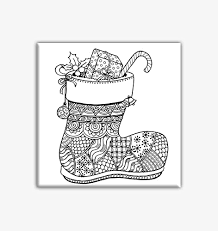 amazon christmas stocking coloring canvas adults