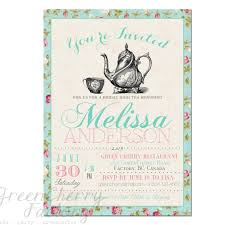 bridal shower tea party invitations cloveranddot com