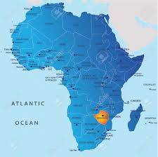 Map Pf Africa by Political Map Of Africa Zimbabwe Royalty Free Cliparts Vectors