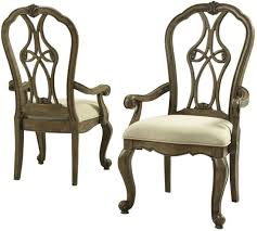 Fairmont Design Grand Estates Bedroom Set Touraine French Glazed Pecan Extendable Dining Room Set From