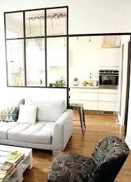 cloison cuisine salon meuble pour separer cuisine salon cloison verriare dacco