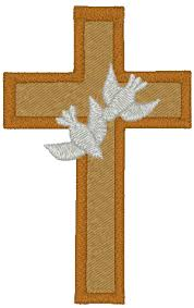 and doves embroidery design