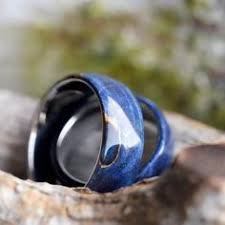 midnight blue wedding band midnight blue ceramic wedding band meteorite ring with beveled