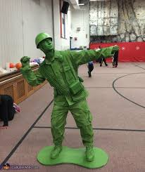 Army Men Halloween Costume Plastic Toy Soldier Costume Photo 3 3