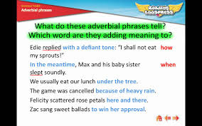 Verb Phrases Worksheets 15 Adverbial Phrases Youtube