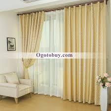 Custom Linen Curtains Luxury Gold High Quality Linen Jacquard Custom Bedroom Curtains