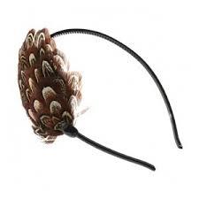 feather headband vintage 1920 s brown pheasant feather headband virtualvilla