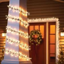 time garland light set green wire clear bulbs 200 count