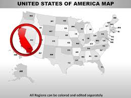 usa california state powerpoint county editable ppt maps and templates
