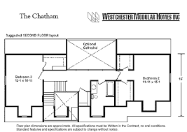 chatham by westchester modular homes cape cod floorplan
