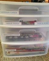 christmas wrap storage get rid of christmas clutter excess storage