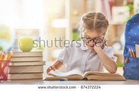 Learning Desk Back Happy Cute Industrious Child Stock Photo 674372224