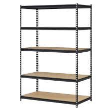 amazon com edsal urwm184872bk black steel storage rack 5