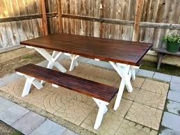 Plans For Outdoor Patio Table by Diy Outdoor Patio Table Inexpensive Youtube