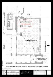 image wilson library floor plan bagel kiosk highlighted png