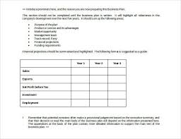 simple business plan template free simple business plan template